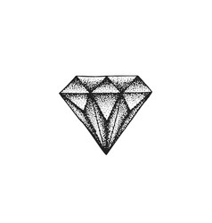 hand drawn diamond vector image