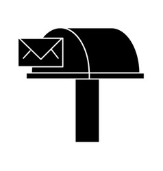 postbox email delivery icon vector image