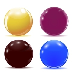 Set of multicolored glossy balls vector image vector image