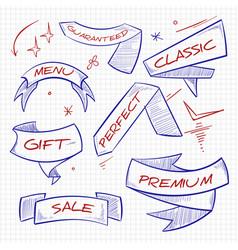 sketch shopping trade advertising banners design vector image vector image
