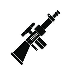 Toy gun black simple icon vector image