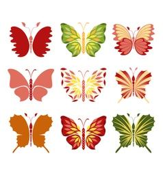 Decorative butterflies vector image vector image