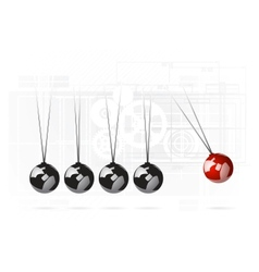 newtons cradle concept vector image