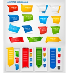 big collection of colorful origami paper banners vector image vector image