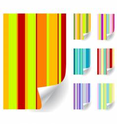 curl pages vector image vector image