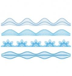 guilloche borders vector image