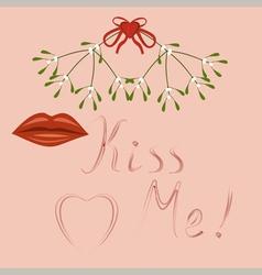 kiss me vector image vector image