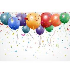 New birthday celebration with balloon and ribbon vector