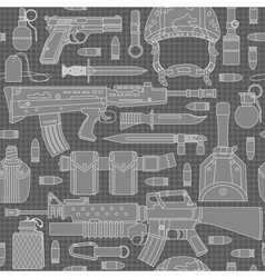 seamless military pattern 01 vector image vector image