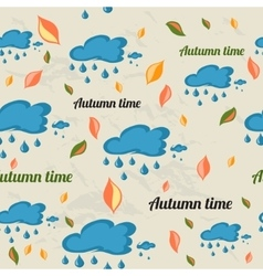 Seamless pattern with autumn elements vector image