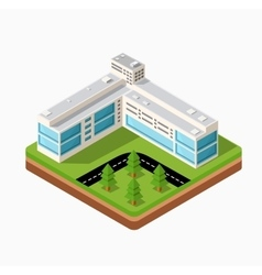 Town in isometric vector image