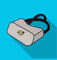 virtual reality glasses icon in flate style vector image