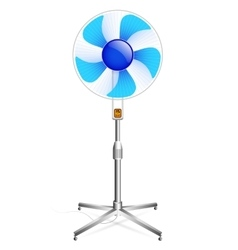working floor fan vector image vector image