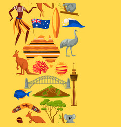 australia seamless pattern australian traditional vector image