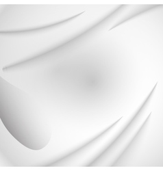 Drapery white silk Fabric textile square vector image