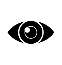 eye simple icon black sign vector image