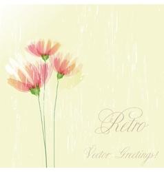 Flower retro grunge background vector image vector image
