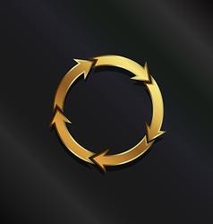 Gold life circle logo vector