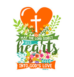 may the lord direct your hearts into gods love vector image vector image