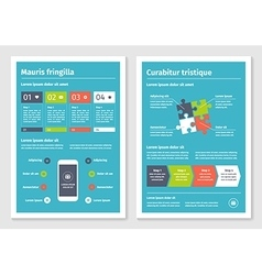 Modern business infographic brochure template 4 vector