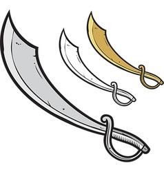 Pirate sword vector image vector image