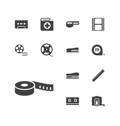 13 tape icons vector