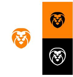 Abstract lion head concept design template vector