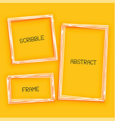 abstract scribble frame on yellow background vector image