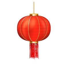 asian holiday decoration chinese paper lantern vector image