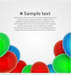 Balloon set art object vector
