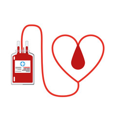 Blood donation symbol vector