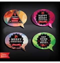 bubble merry christmas vector image