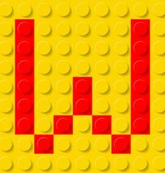 Building kit of plastic Font 23 vector