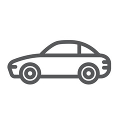 car line icon traffic and vehicle automobile vector image
