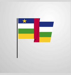 central african republic waving flag design vector image