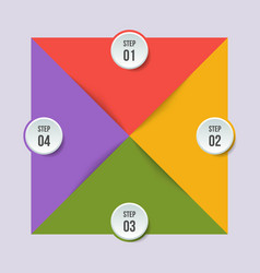 Circle chart geometric infographic with triangle vector