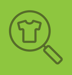 clothes search linear icon vector image
