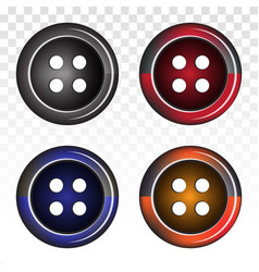 Clothing shirt button flat icons for apps vector