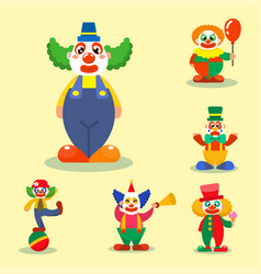 Clown circus man characters performer vector