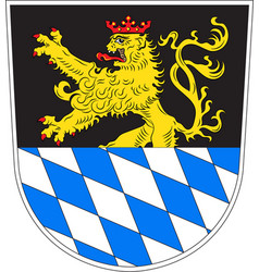 Coat of arms of amberg is a town in bavaria vector