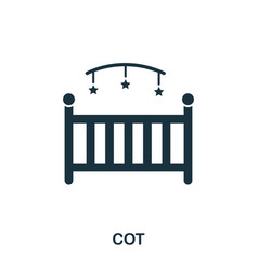 cot icon mobile apps printing and more usage vector image