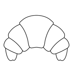 Croissant icon outline style vector image