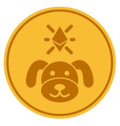 Crypto puppy coin flat icon vector