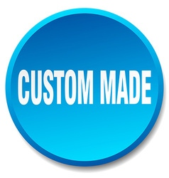 custom made blue round flat isolated push button vector image