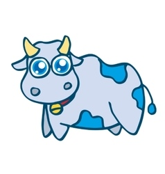 Cute cow cartoon design for kids vector