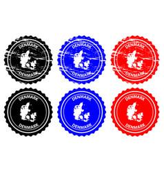 Denmark rubber stamp vector