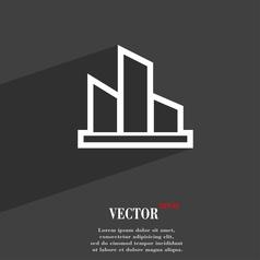 Diagram icon symbol flat modern web design with vector