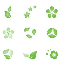 eco elements vector image
