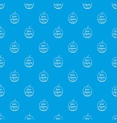 farm organic pattern seamless blue vector image