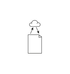 file cloud sync icon vector image